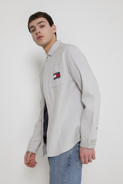 뱃지 텐셀 셔츠