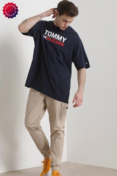 코튼 롱거핏 플러스 코퍼 로고 티셔츠