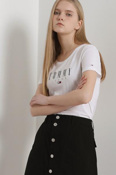 에센셜 스키니 로고 티셔츠