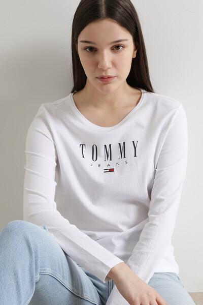 코튼 슬림핏 로고 티셔츠