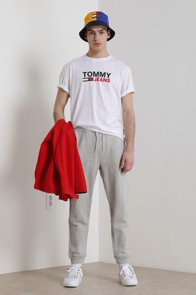 코튼 박시핏 코퍼 로고 티셔츠