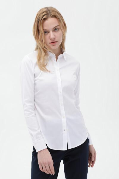 면혼방 슬림핏 헤리티지 셔츠