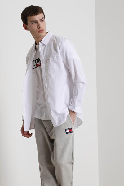 코튼 시어서커 솔리드 셔츠