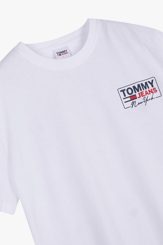 코튼 백 로고 반팔 티셔츠