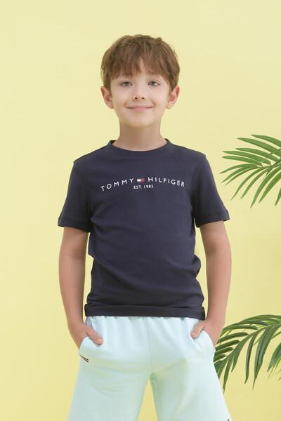 코튼 에센셜 로고 반팔 티셔츠