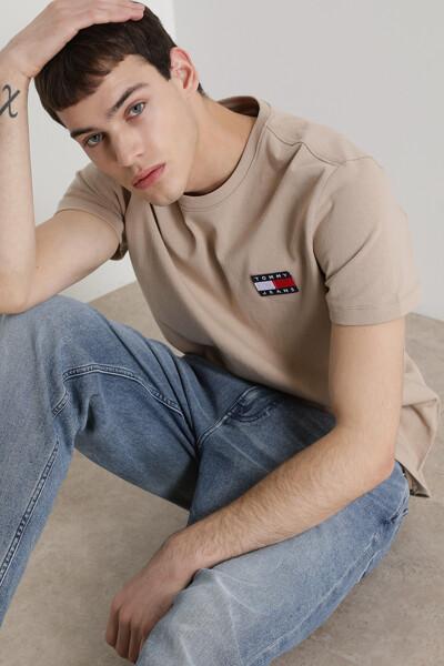 코튼 뱃지 반팔 티셔츠