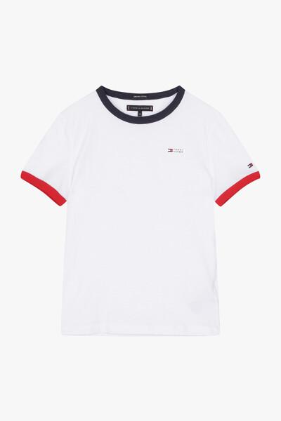 코튼 링거 크루넥 티셔츠