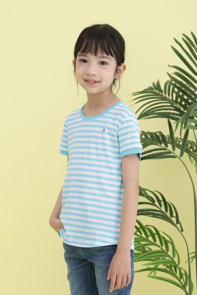 면혼방 에센셜 스트라이프 크루넥 티셔츠