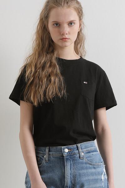 코튼 포켓 헨리 슬럽 티셔츠