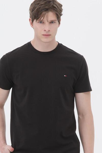 코튼 와플 텍스쳐 크루넥 티셔츠