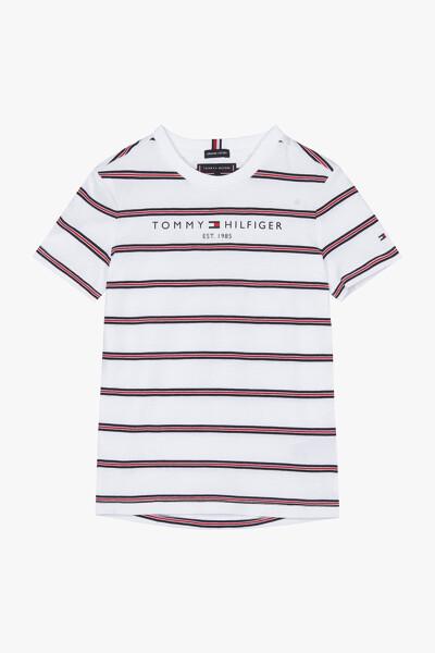 코튼 에센셜 스트라이프 반팔 티셔츠