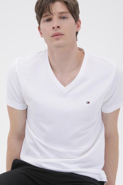 코튼 에센셜 브이넥 티셔츠