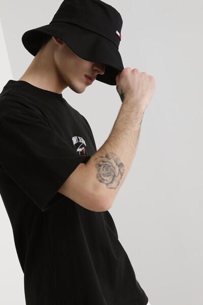 코튼 오버핏 그래픽 티셔츠
