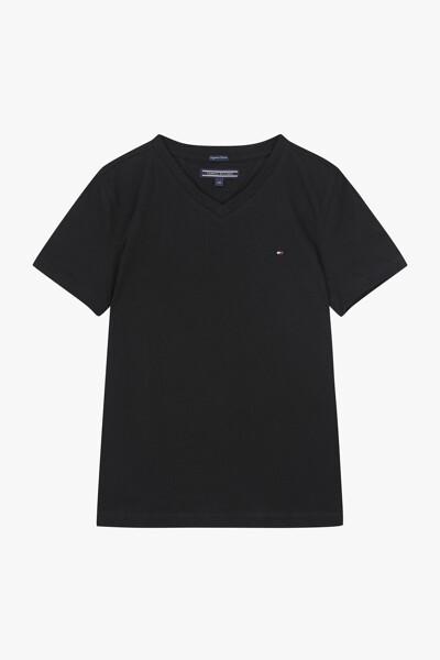 코튼 베이직 브이넥 티셔츠