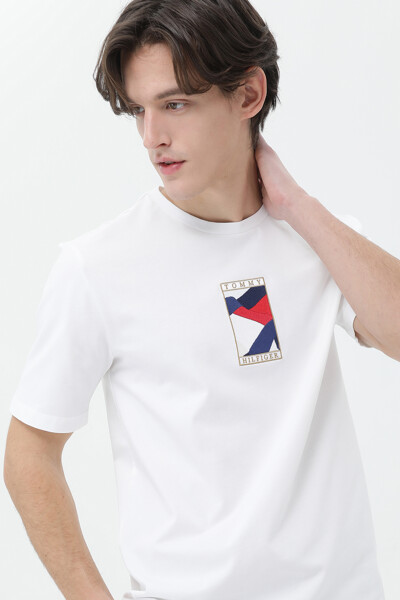 코튼 아이콘 플래그 반팔 티셔츠