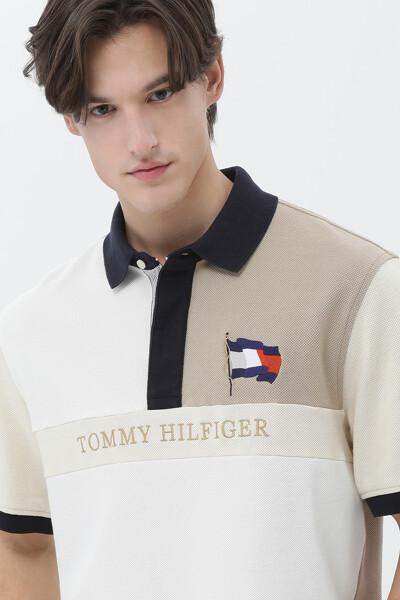 코튼 토널 블록 폴로 티셔츠