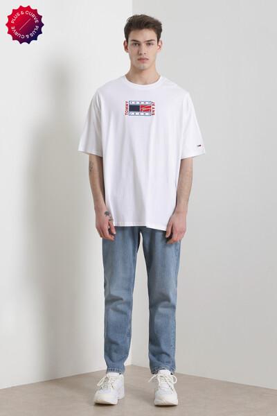 코튼 TOMMY 플래그 크루넥 티셔츠
