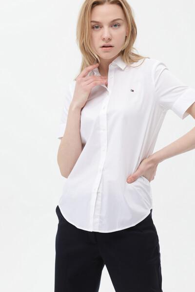 면혼방 릴렉스핏 반팔 셔츠