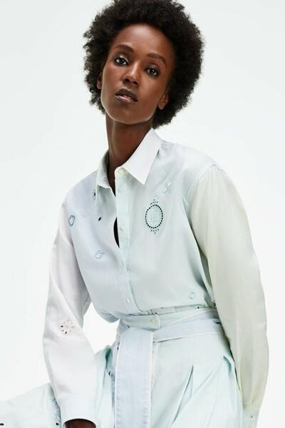 코튼 걸프렌드핏 아이콘 옥스포드 셔츠