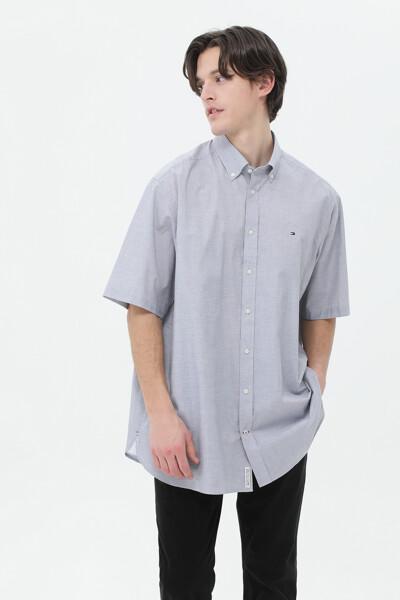 코튼 클래식 컬러 반팔 셔츠