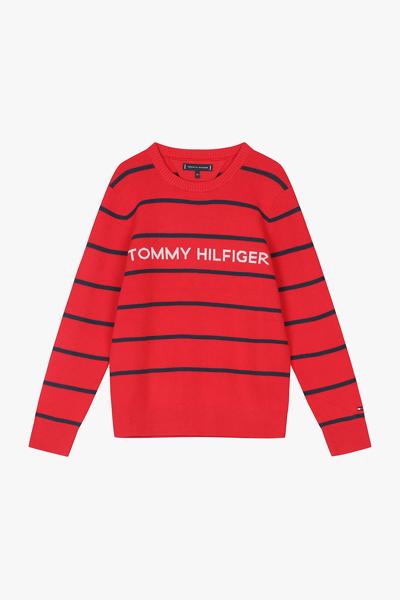 코튼 스탠다드핏 스트라이프 스웨터