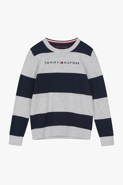 럭비 스트라이프 스웨터