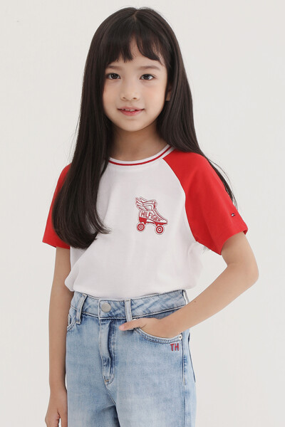 컬러블록 스케이트 반팔 티셔츠