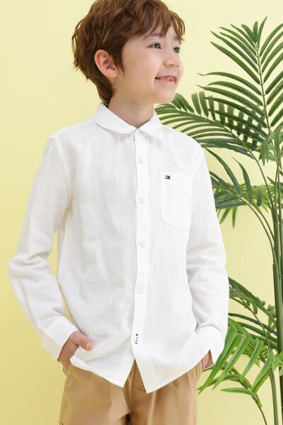 린넨혼방 에센셜 포켓 셔츠