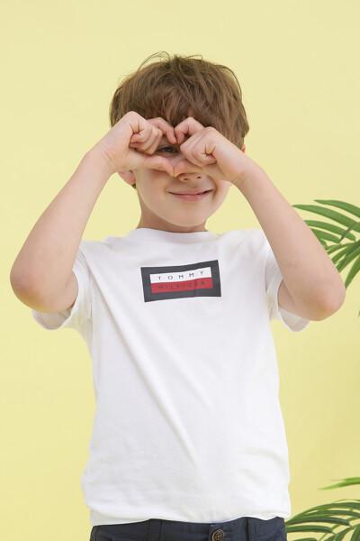 플레그 그래픽 반팔 티셔츠