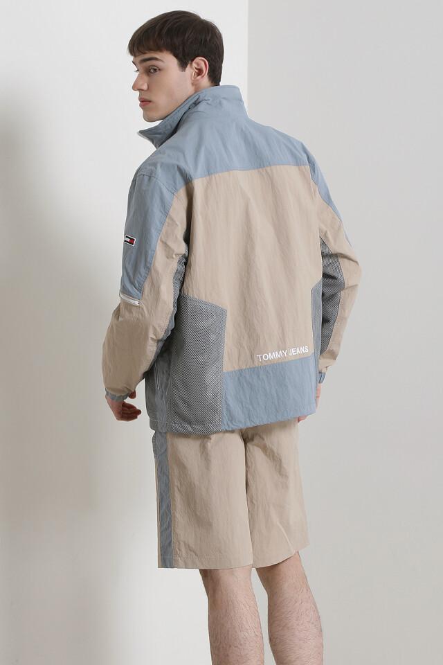 믹스 컬러블록 자켓