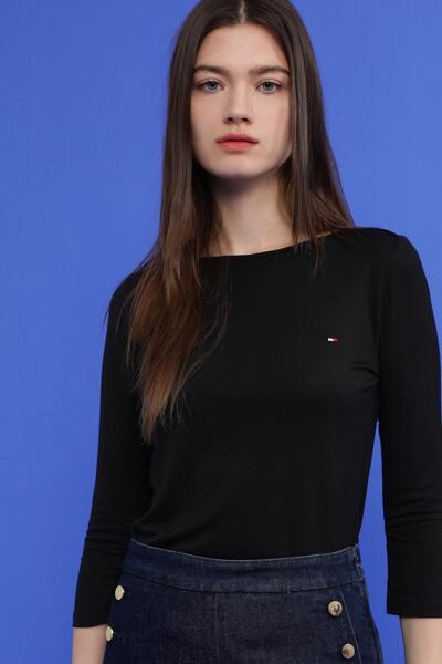 미니 플래그 보트넥 티셔츠