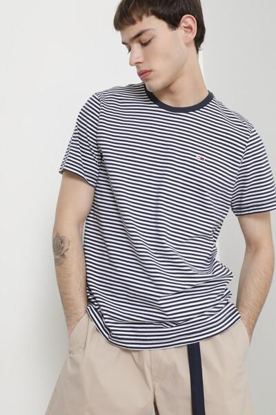 코튼 클래식 스트라이프 티셔츠