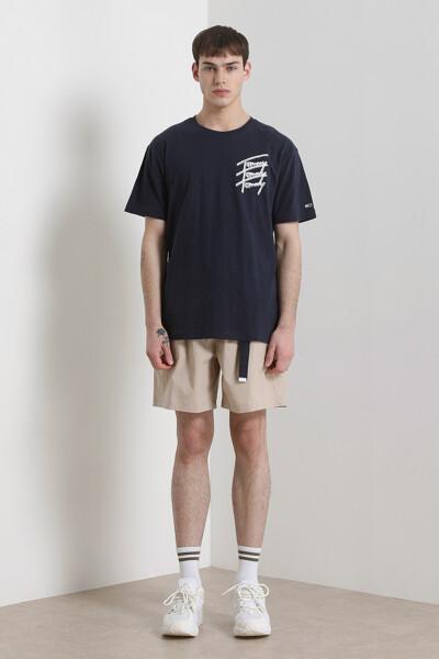 코튼 리피트 스크립트 티셔츠