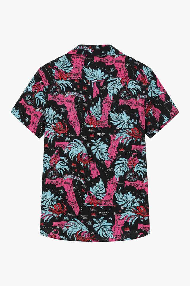 마이애미 프린트 캠프 셔츠