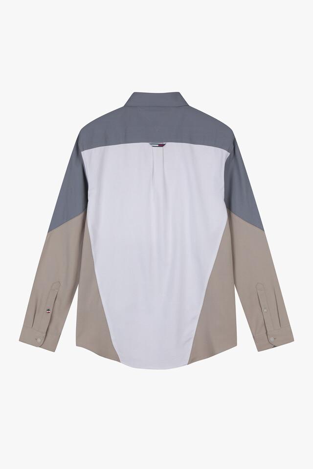 오가닉 컬러블록 셔츠