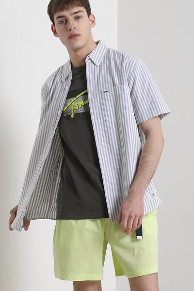 코튼 스트라이프 반팔 셔츠
