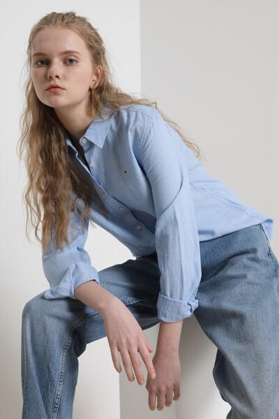 린넨혼방 보이프렌드핏 블렌드 셔츠