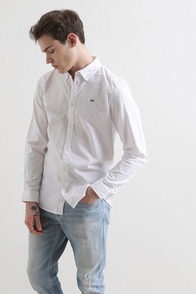 슬림핏 옥스포드 셔츠