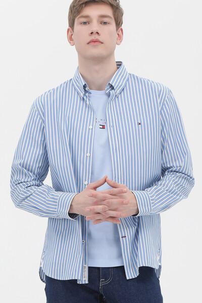 코튼 볼드 스트라이프 셔츠