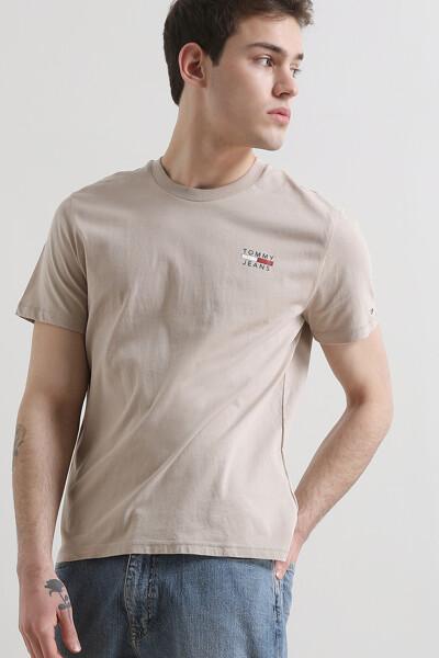 코튼 체스트 로고 반팔 티셔츠