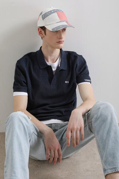 코튼 헤리티지 미니 와플 폴로 티셔츠