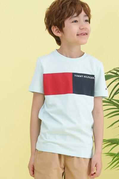 코튼 투 컬러 반팔 티셔츠