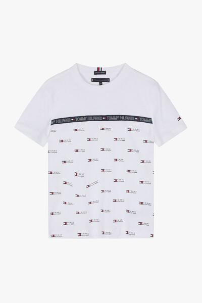 코튼 테이프 크루넥 티셔츠