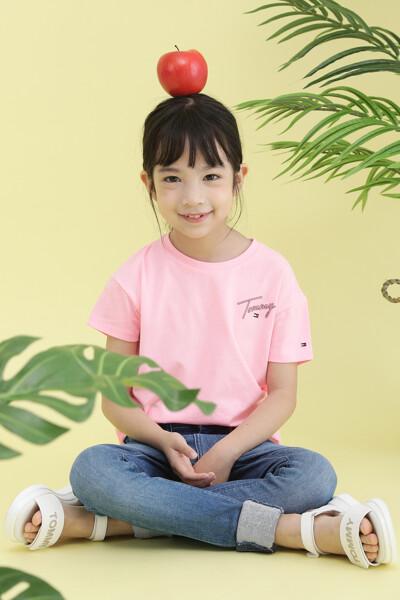 면혼방 멀티 컬러 크루넥 티셔츠