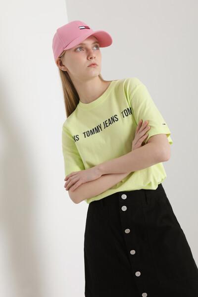 코튼 슈퍼 크롭핏 로고 티셔츠