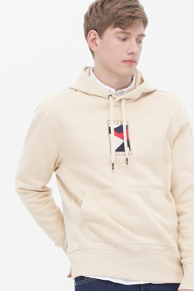 면혼방 아이콘 플래그 후드 티셔츠