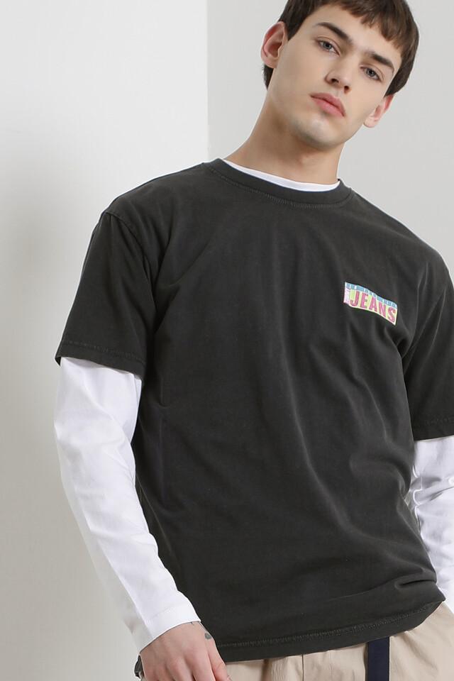 헤비 가먼트다이 반팔 티셔츠