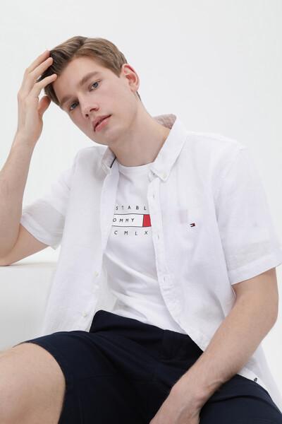 린넨 레귤러핏 클래식 컬러 셔츠