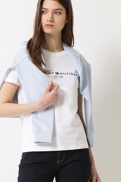 코튼 TH 에센셜 크루넥 티셔츠