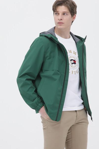 컬러 후드 자켓